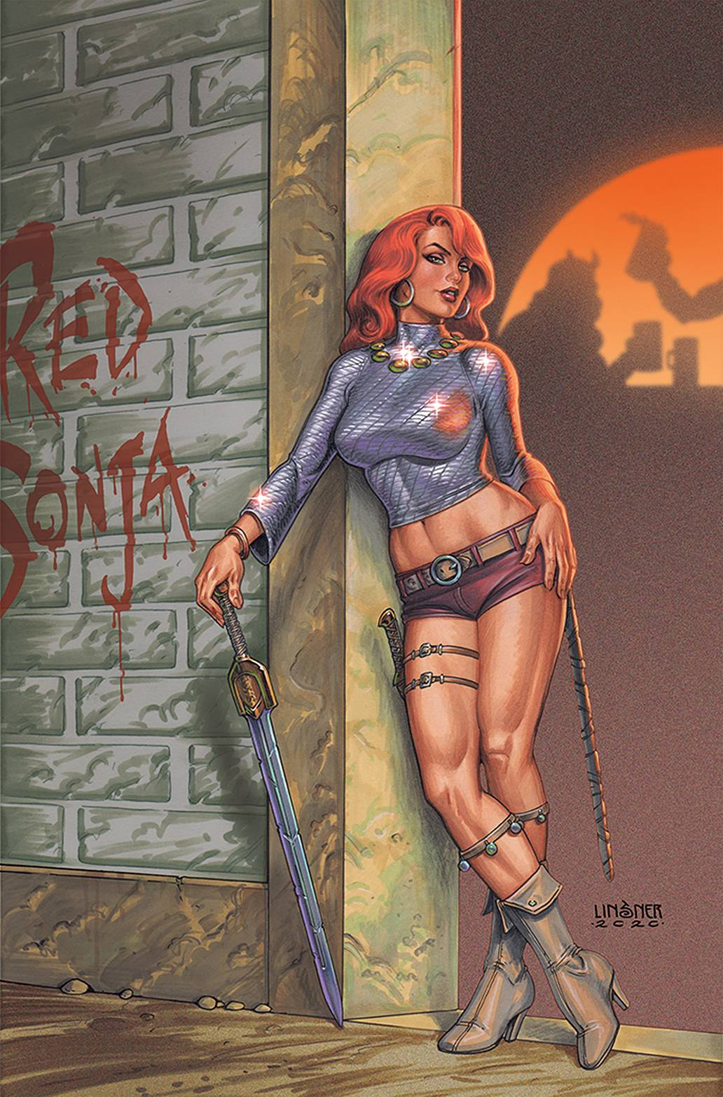 RED SONJA #25 LINSNER LTD VIRGIN CVR