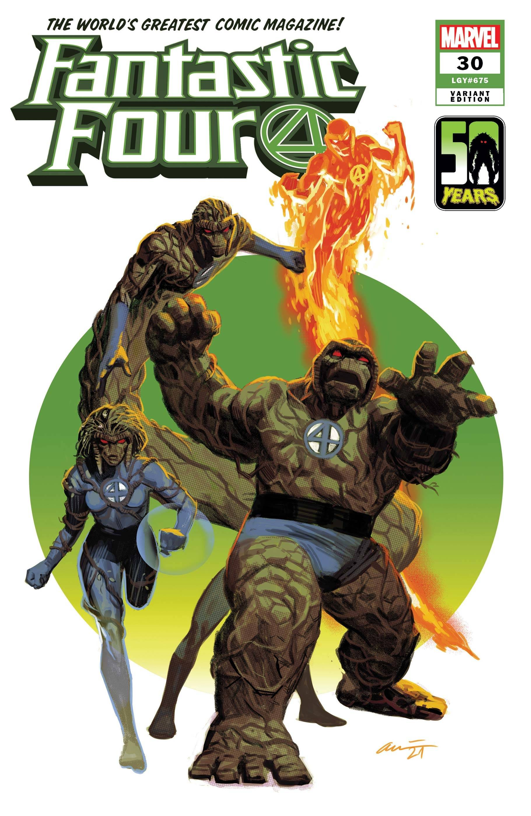 FANTASTIC FOUR #30 ACUNA THE THING-THING VAR KIB