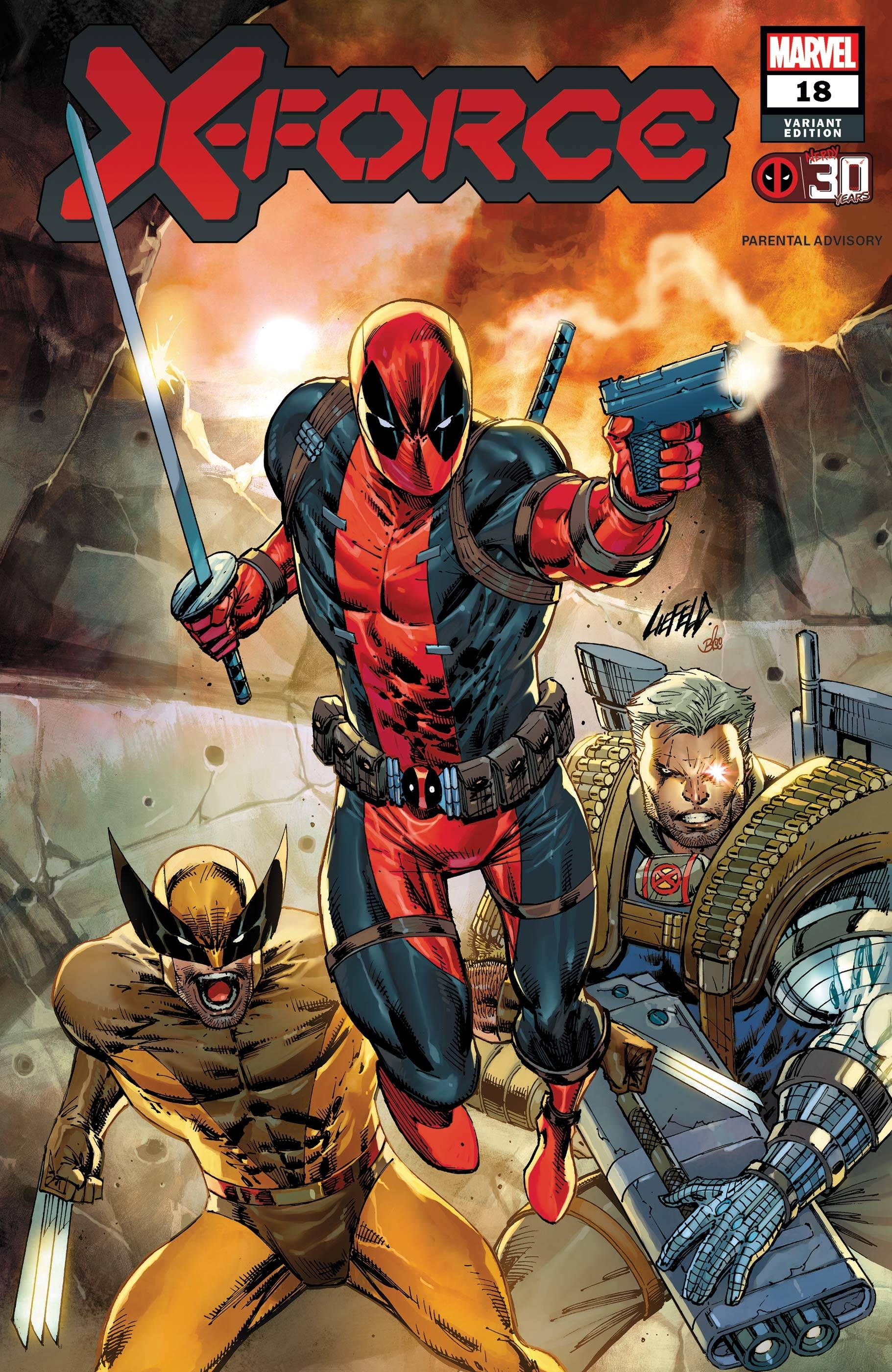 X-FORCE #18 LIEFELD DEADPOOL 30TH VAR