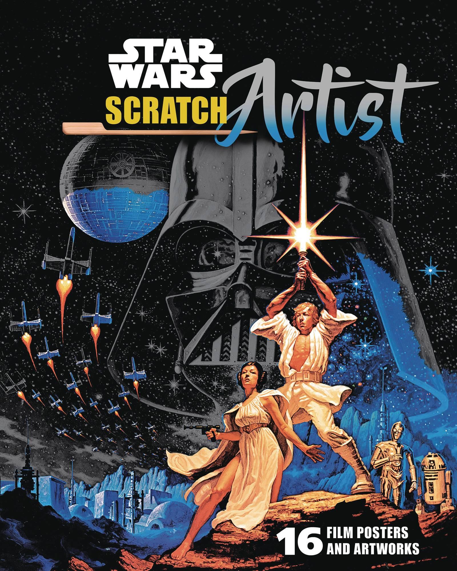 STAR WARS SCRATCH ARTIST CLASSIC MOVIE POSTERS