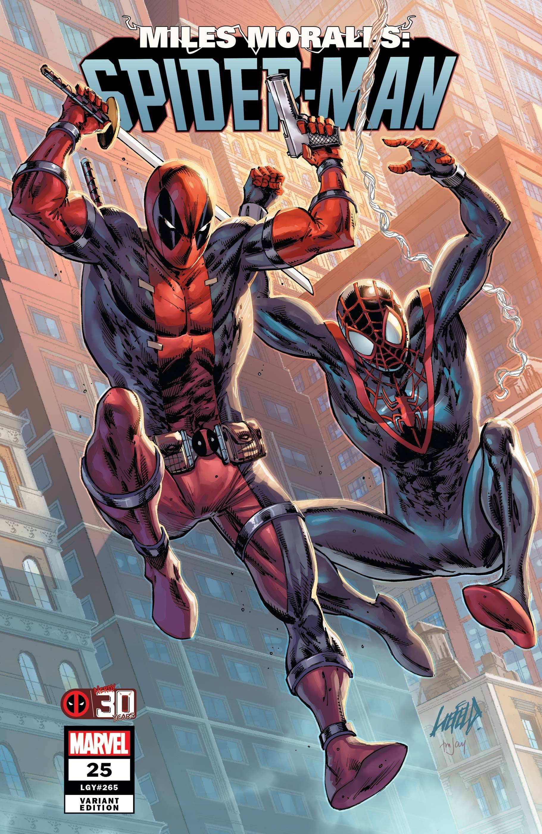 MILES MORALES SPIDER-MAN #25 LIEFELD DEADPOOL 30TH VAR