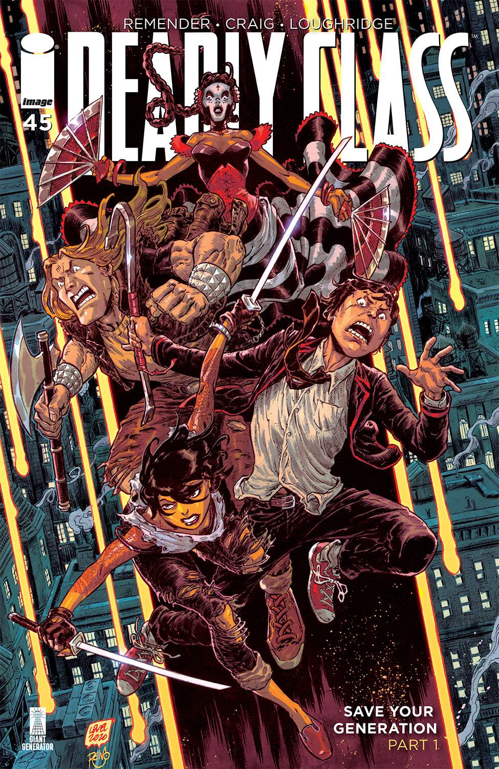 DEADLY CLASS #45 CVR B LEVEL & DINISIO (MR)