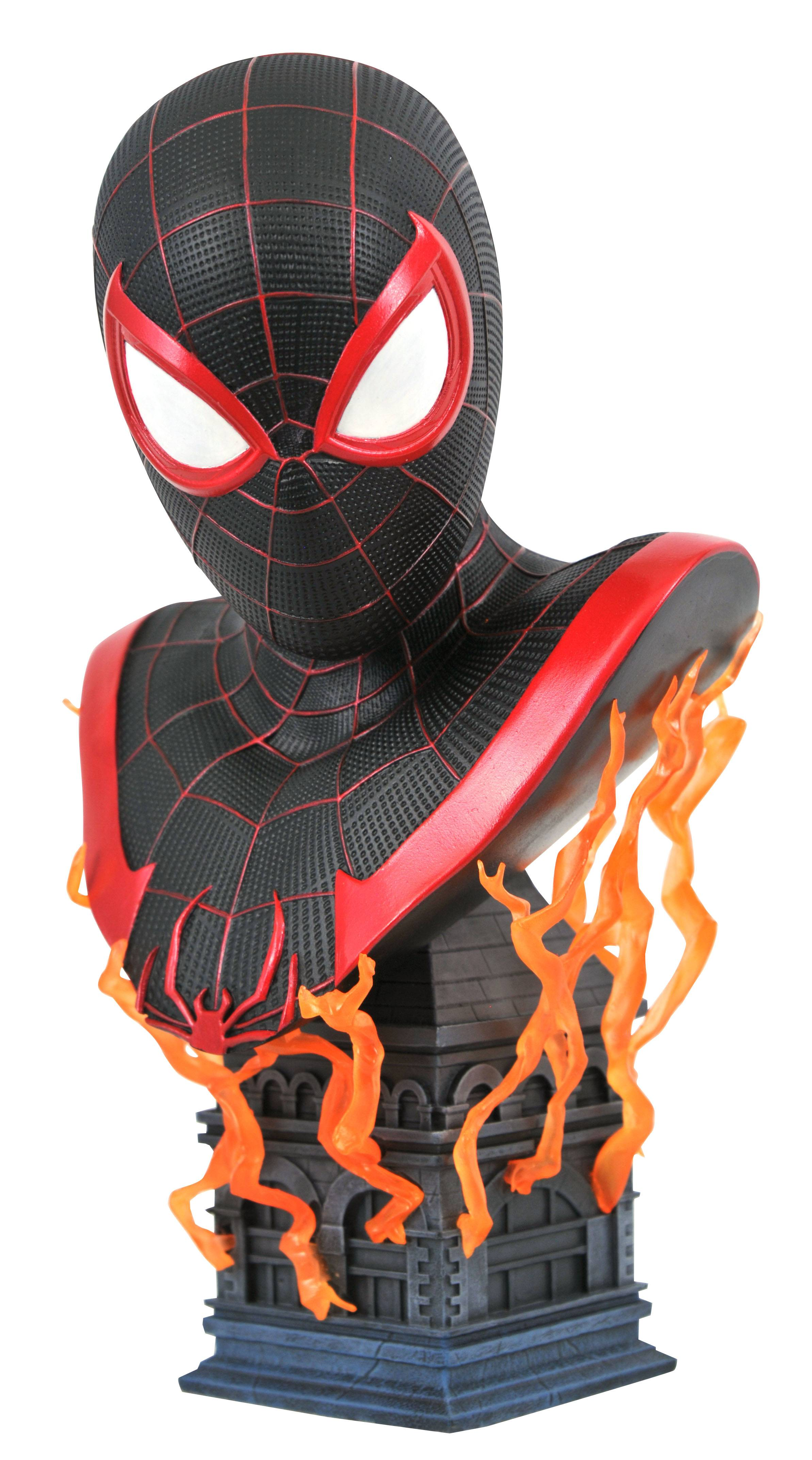 MARVEL LEGENDS IN 3D PS5 MILES MORALES 1/2 SCALE BUST