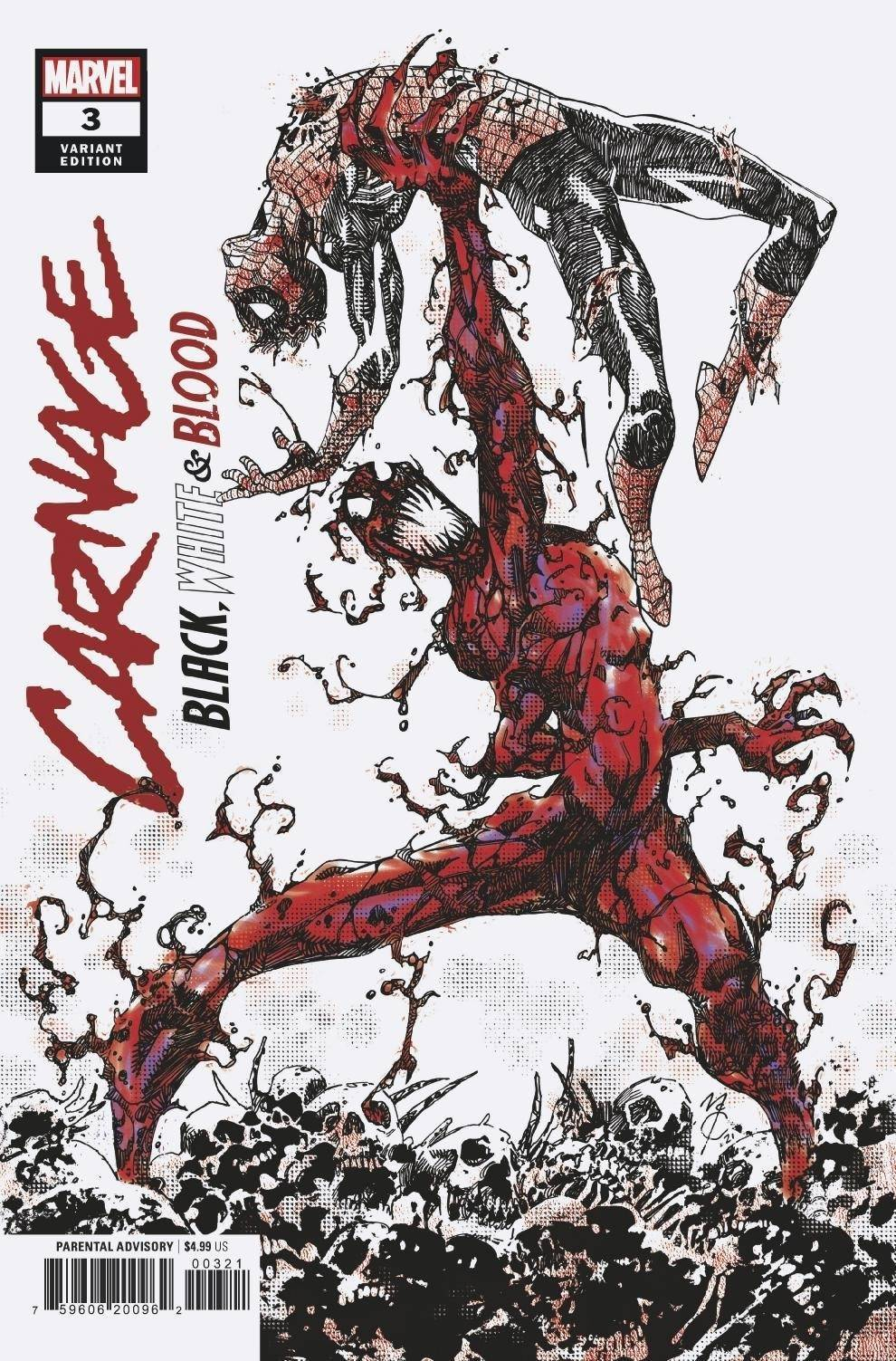 CARNAGE BLACK WHITE AND BLOOD #3 (OF 4) EASTMAN VAR