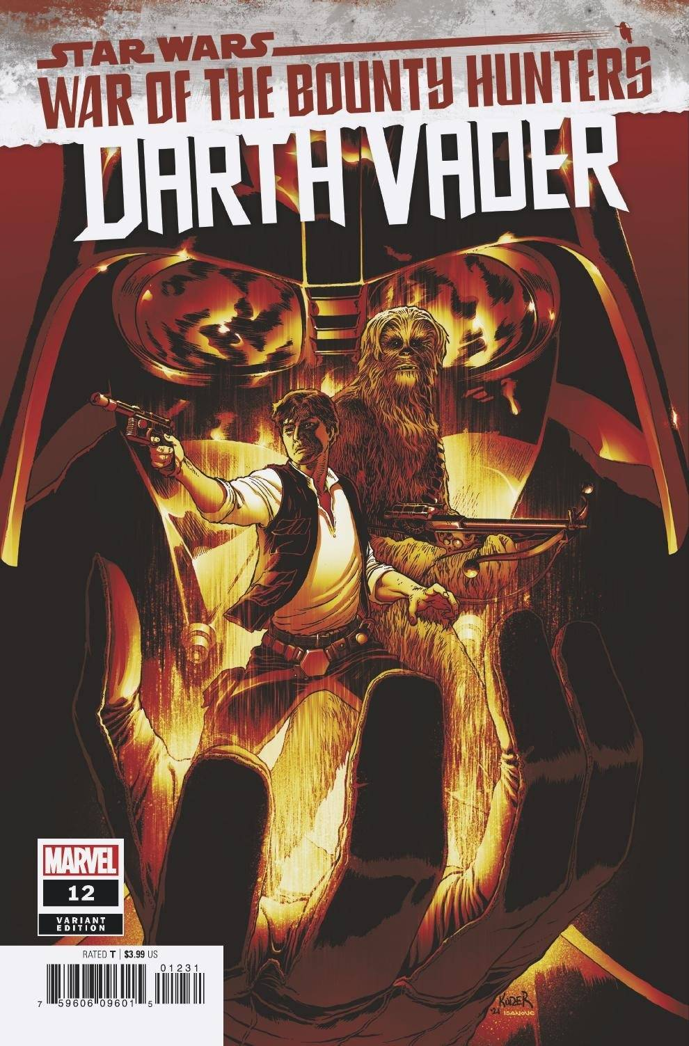 STAR WARS DARTH VADER #12 KUDER CRIMSON VAR