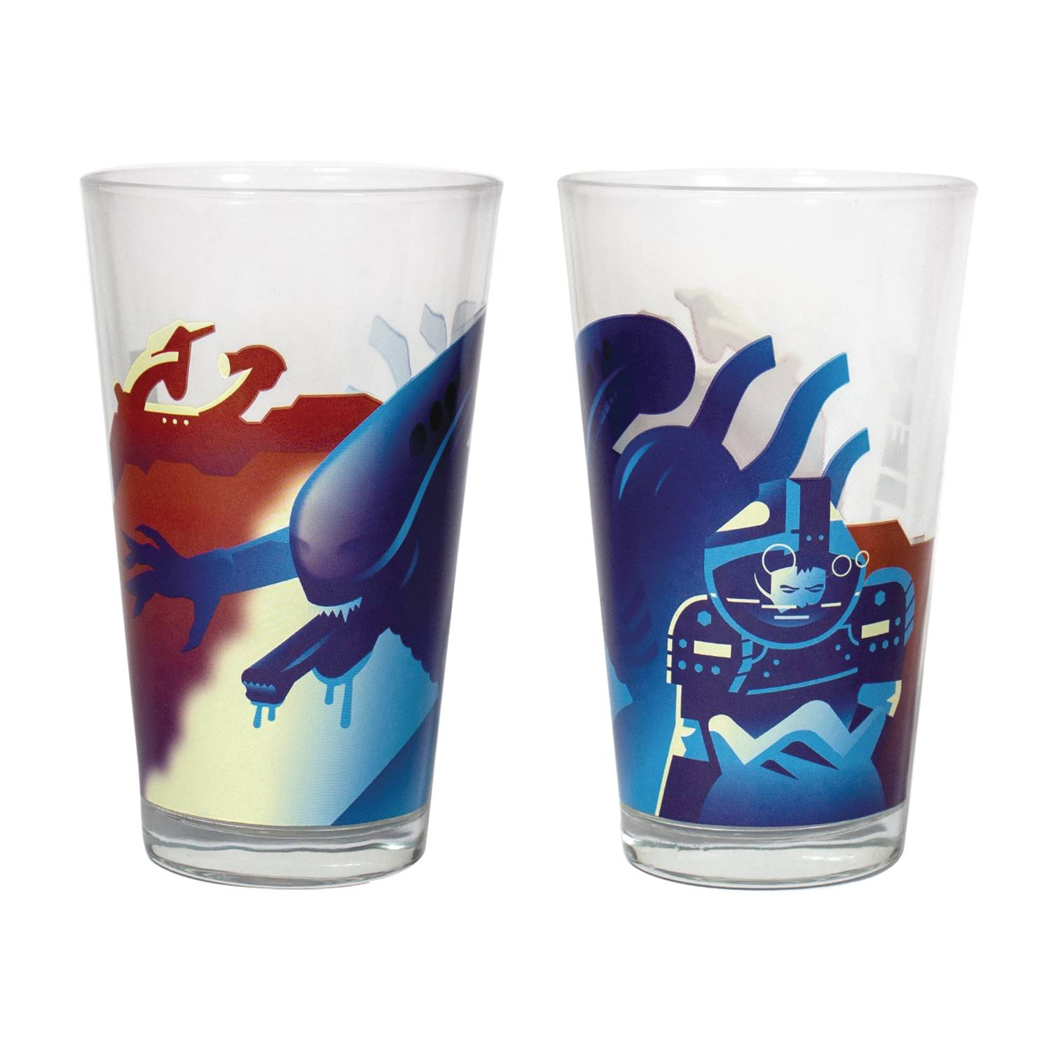 SUPER 7 ALIEN XENOMORPH PINT GLASS