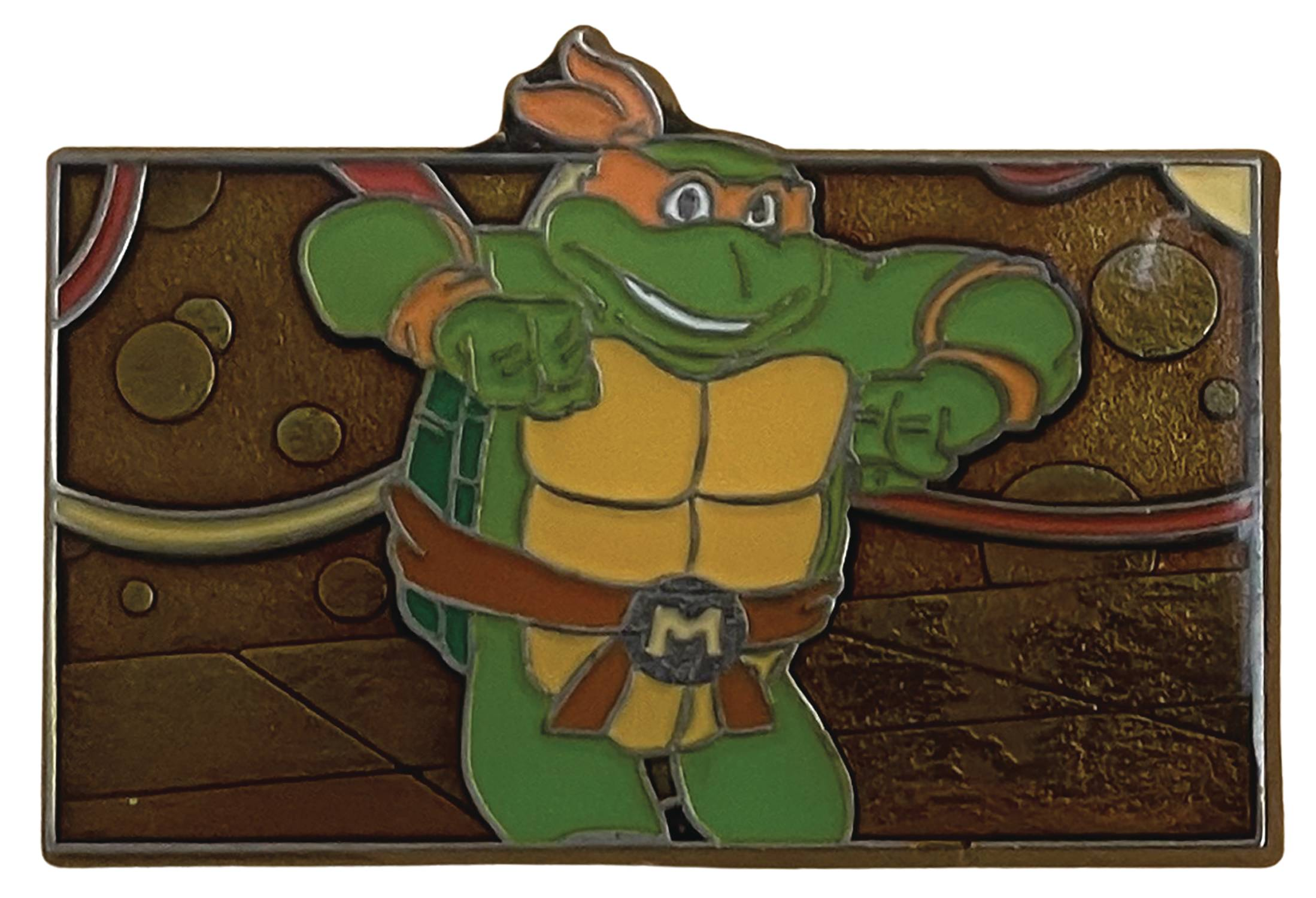 TMNT MICHAELANGELO IS A PARTY DUDE PIN (FEB218583)