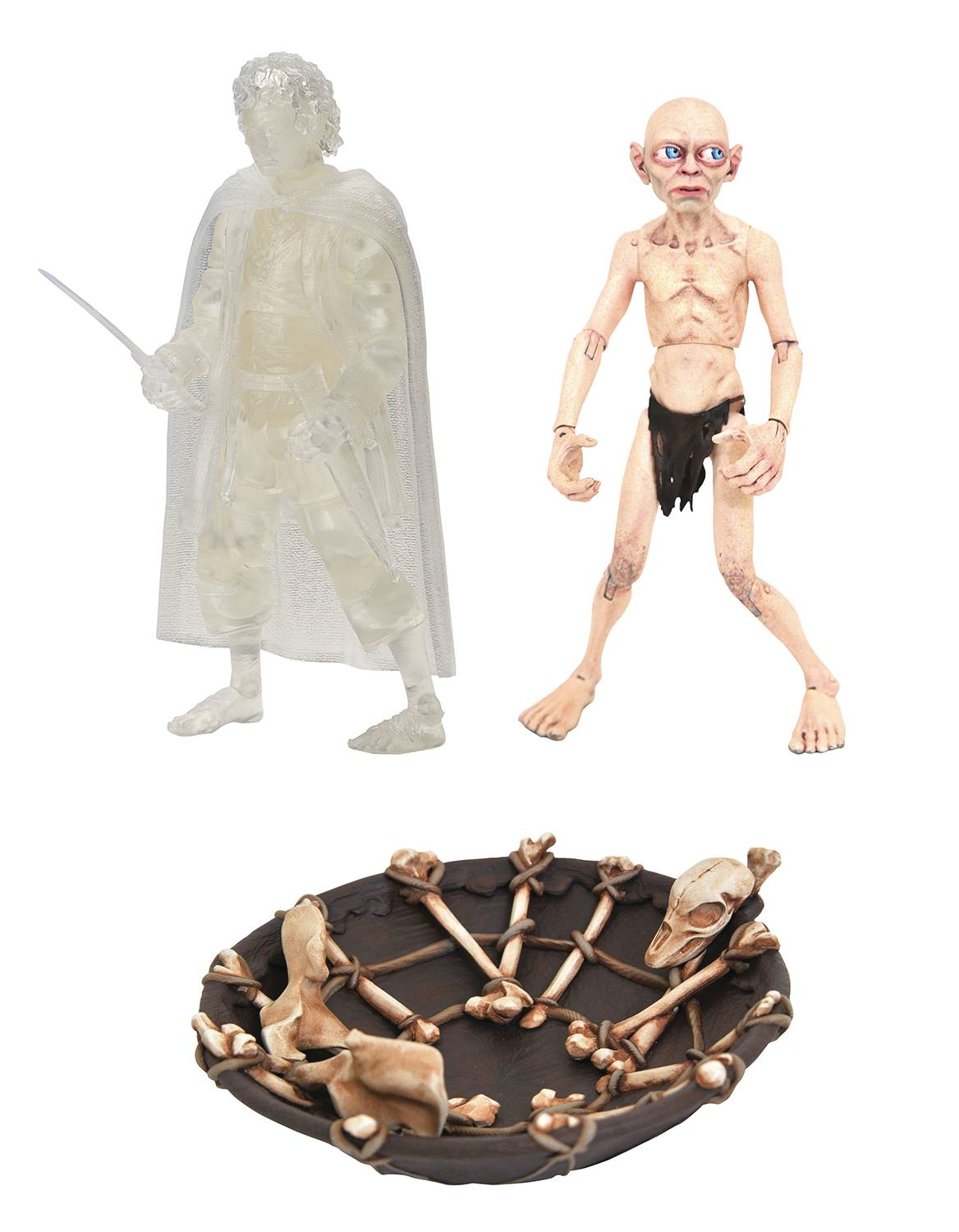 SDCC 2021 LORD OF THE RINGS DLX AF BOX SET FRODO & GOLLUM (C