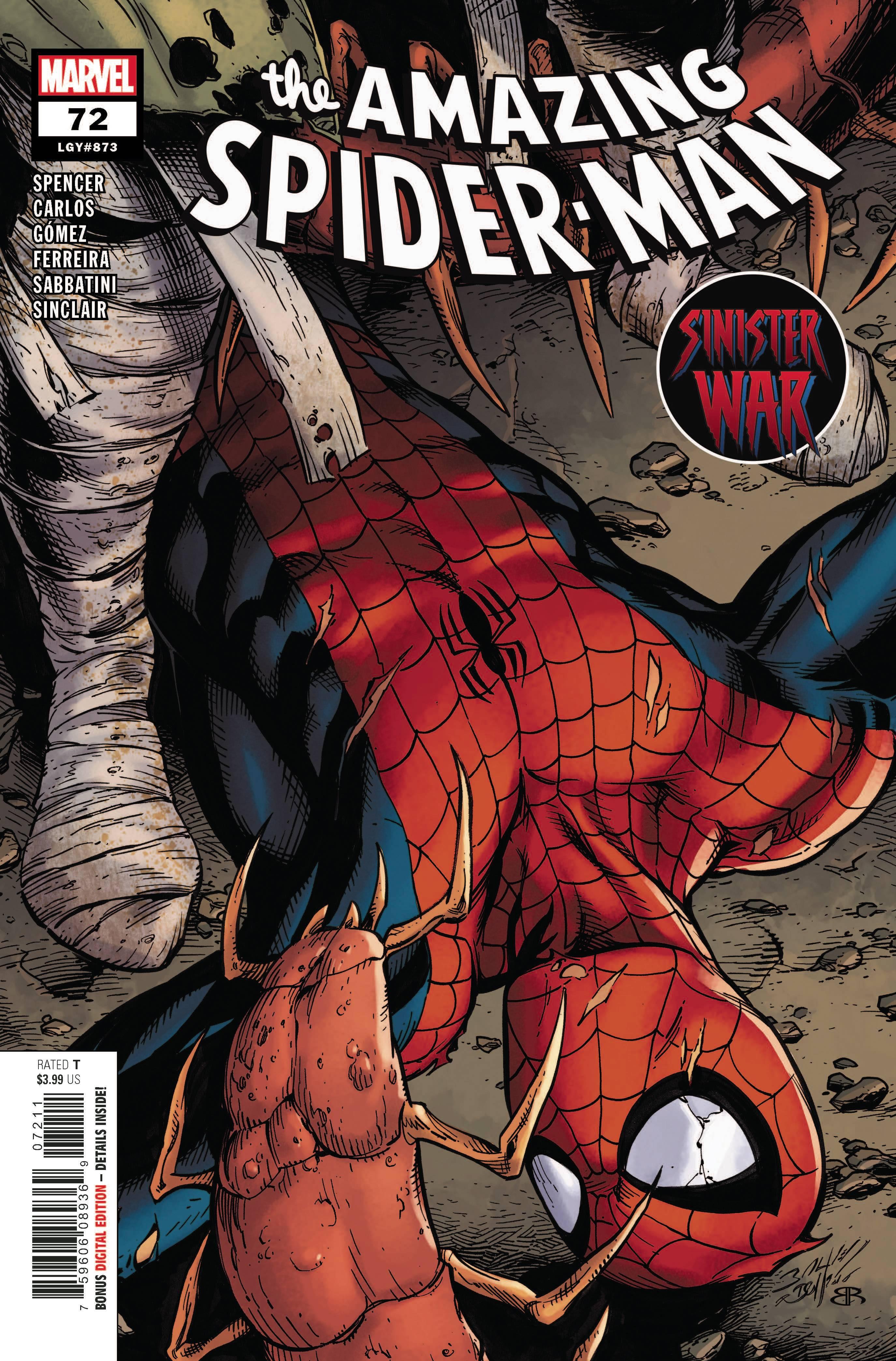 AMAZING SPIDER-MAN #72 SINW