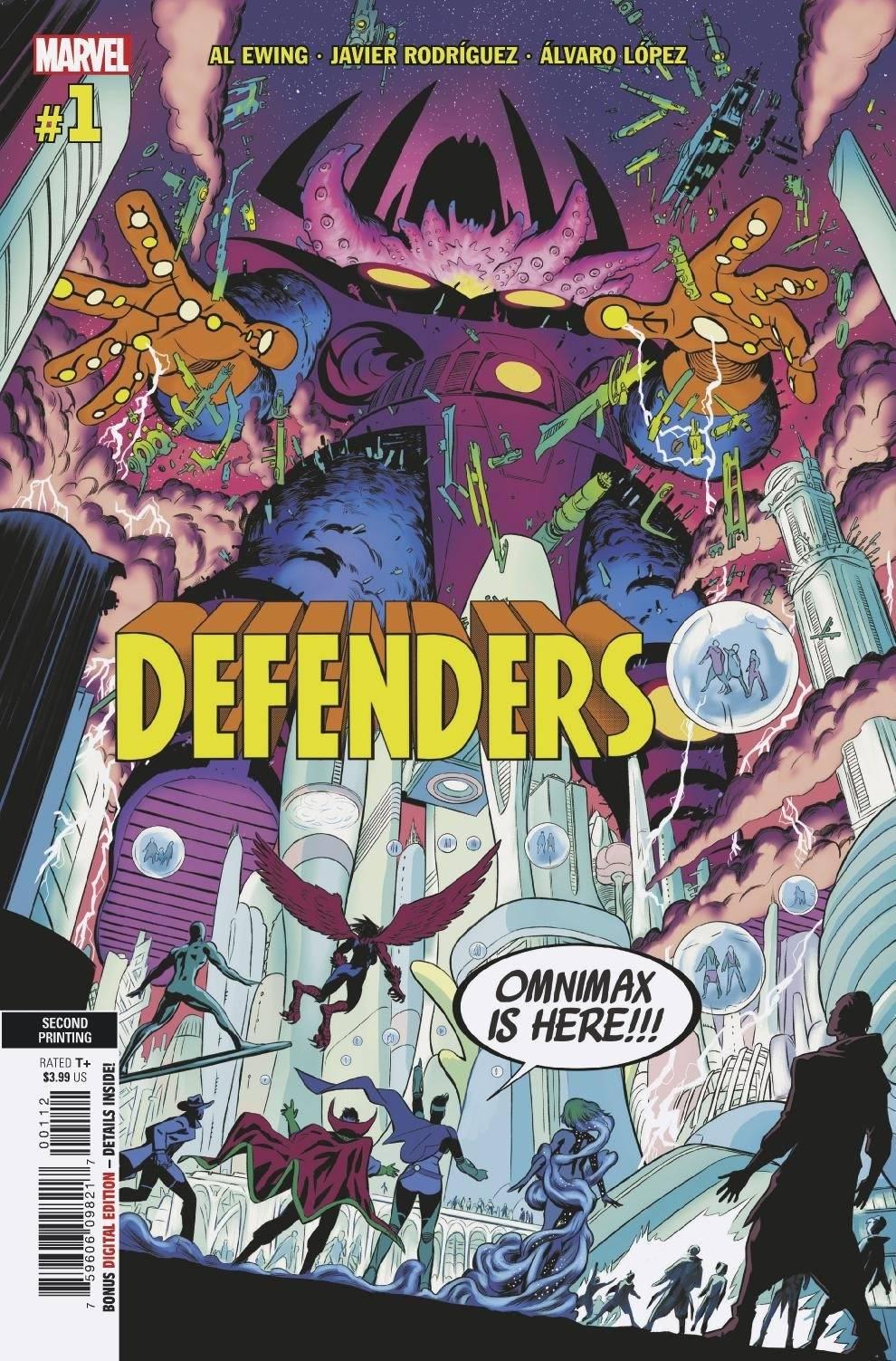 DEFENDERS #1 (OF 5) 2ND PTG VAR