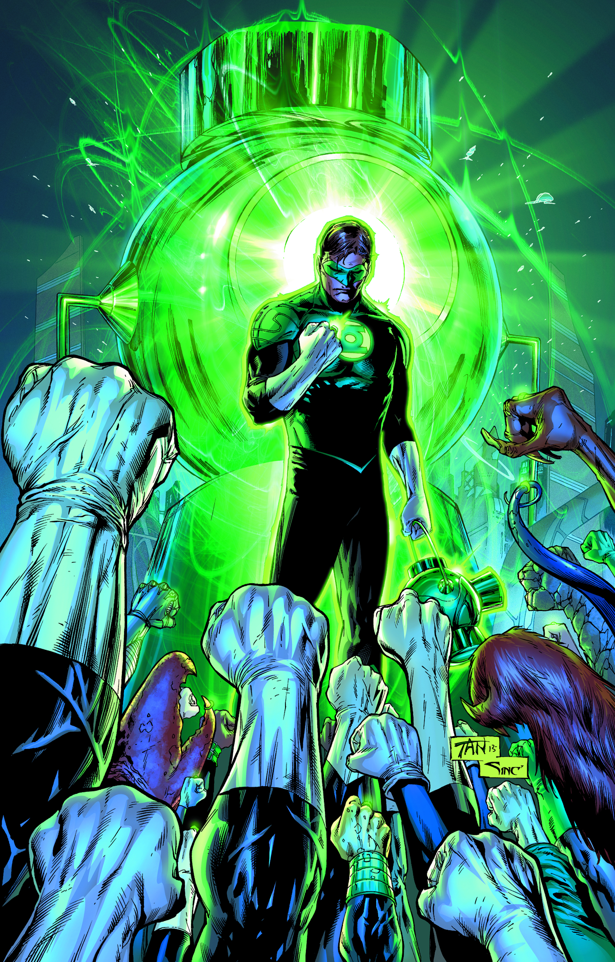 It is a picture of Critical Pictures of Green Lantern