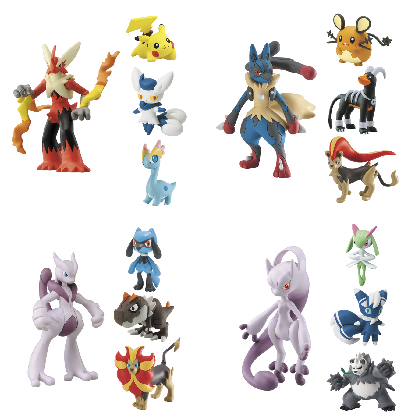 PREVIEWSworld - POKEMON X & Y GIFT PACK 4PK MINI FIG 4PC ...