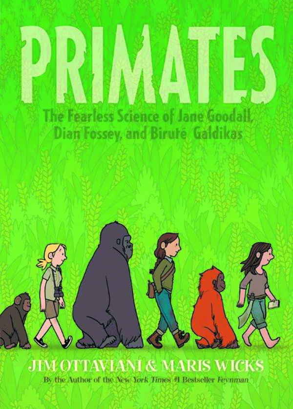 Previewsworld primates fearless science of goodall for Square fish publishing