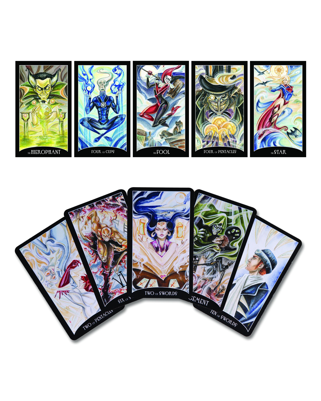 Tarot Superheroes Villains Other Comic Book Characters: JUSTICE LEAGUE TAROT CARD DECK