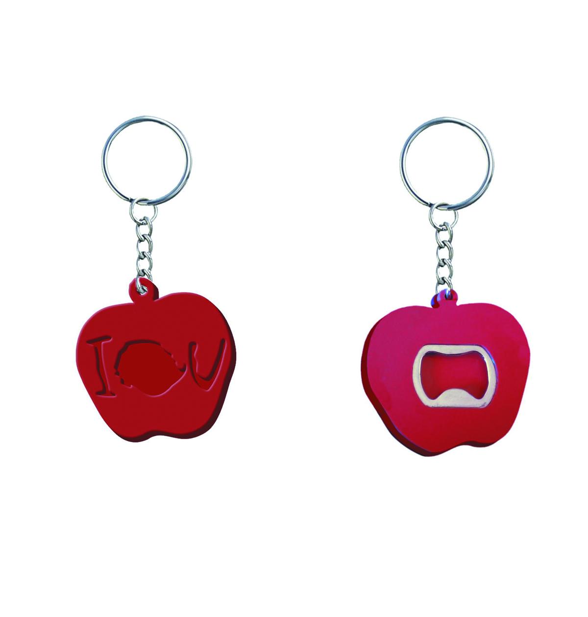 previewsworld sherlock iou apple bottle opener keychain c 1 1 2. Black Bedroom Furniture Sets. Home Design Ideas