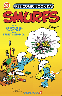 The Smurfs / Disney Fairies Featuring Tinker Bell Flip-Book (Smurfs Cover)