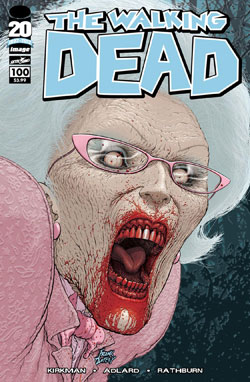 WALKING DEAD #100 FRANK QUIETLY COVER