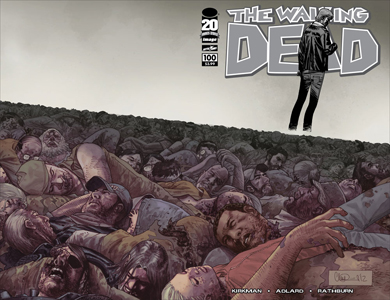 WALKING DEAD #100 CHARLIE ADLARD WRAPAROUND COVER