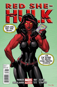 RED SHE-HULK #58  MCGUINNESS VARIANT