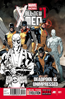 ALL-NEW X-MEN #1 UNIMPRESSED DEADPOOL SKETCH VARIANT