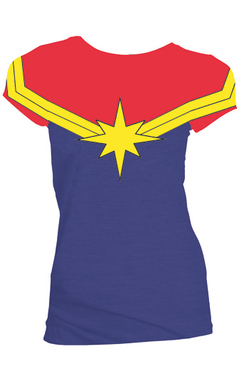 1a0cc6dc Marvel: Captain Marvel Women's Fitted Costume T-Shirt - Previews World