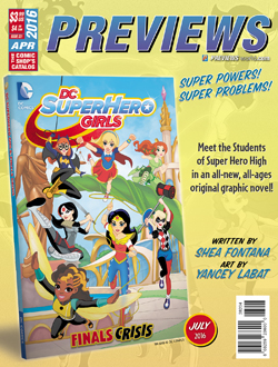 Back Cover -- DC Entertainment's Super Hero Girls: Finals Crisis