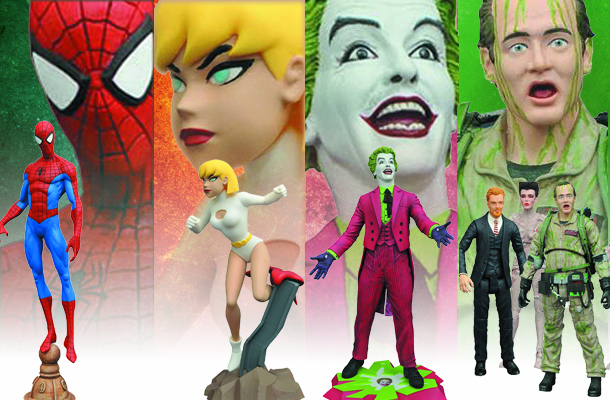 Diamond Select Toys has new items in the September PREVIEWS from Batman 1966, Ghostbusters, Gotham, Justice League Animated, Marvel, My Little Pony, ...