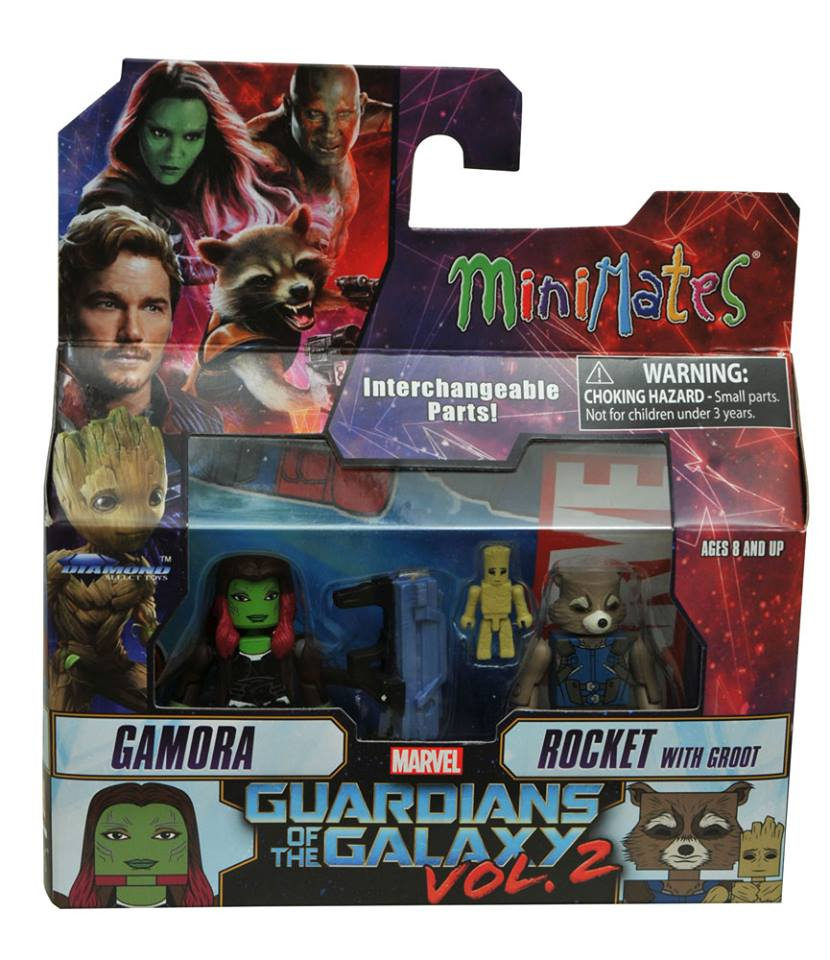 Guardians of the Galaxy Vol 2 Minimates Revealed  Previews World