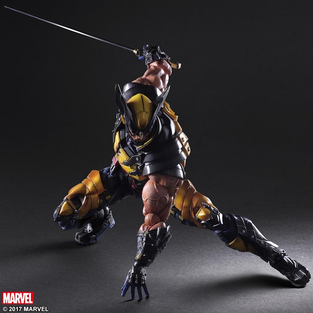"""Novo Square Enix variante Play Arts Kai Wolverine 10/' /""""Figura De Ação A75X"""
