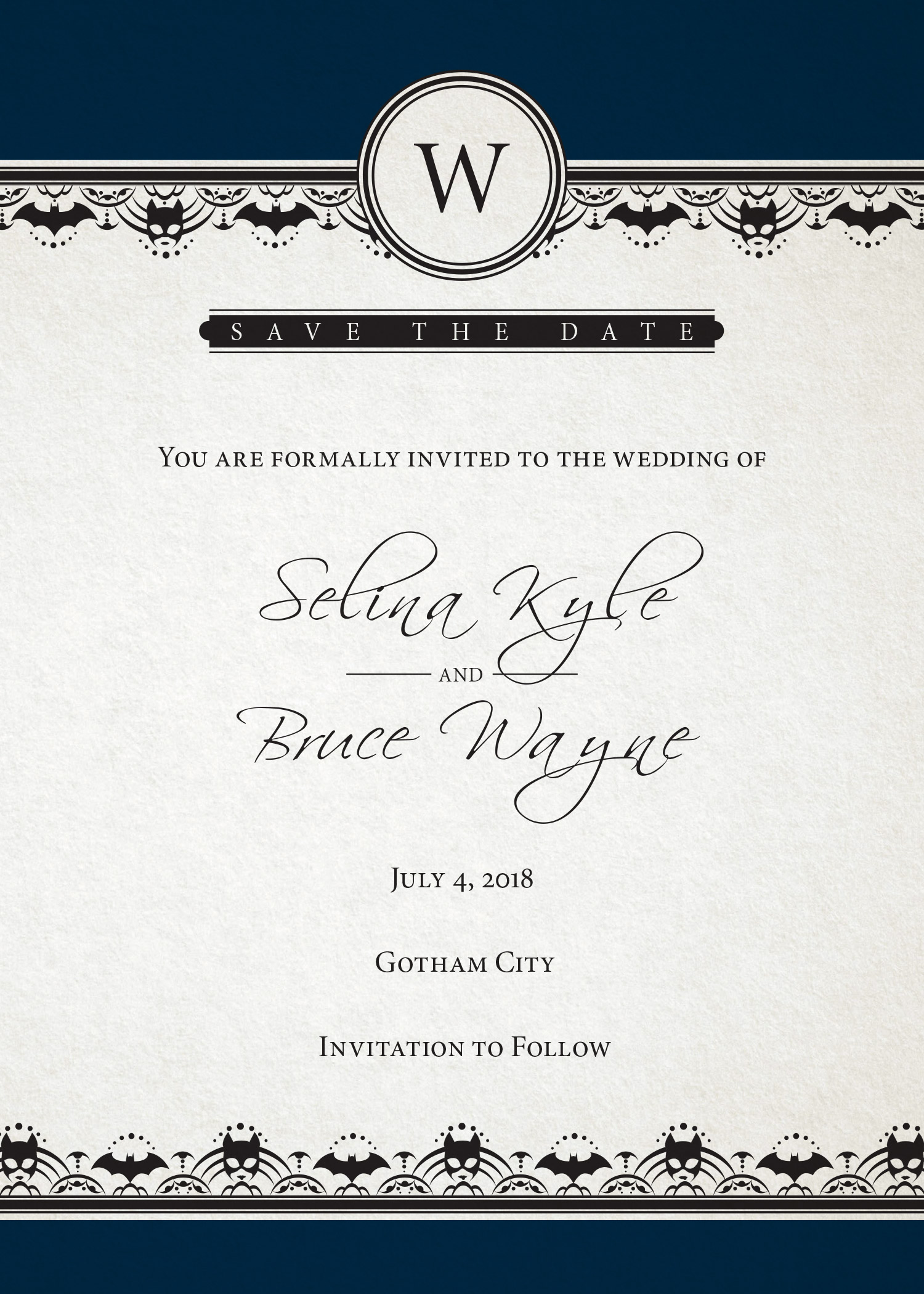 Batman Wedding \'Save The Date\' Card Revealed - Previews World
