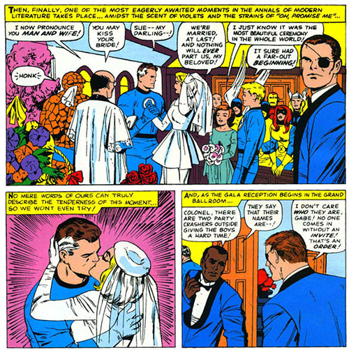 Image result for Reed Richards marries Susan Storm.
