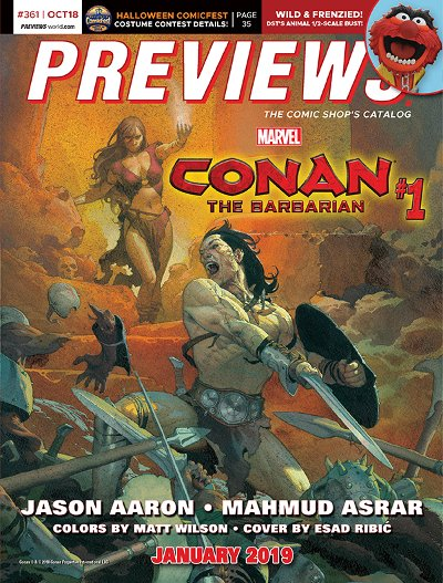 Front Cover -- Marvel Comics' Conan #1
