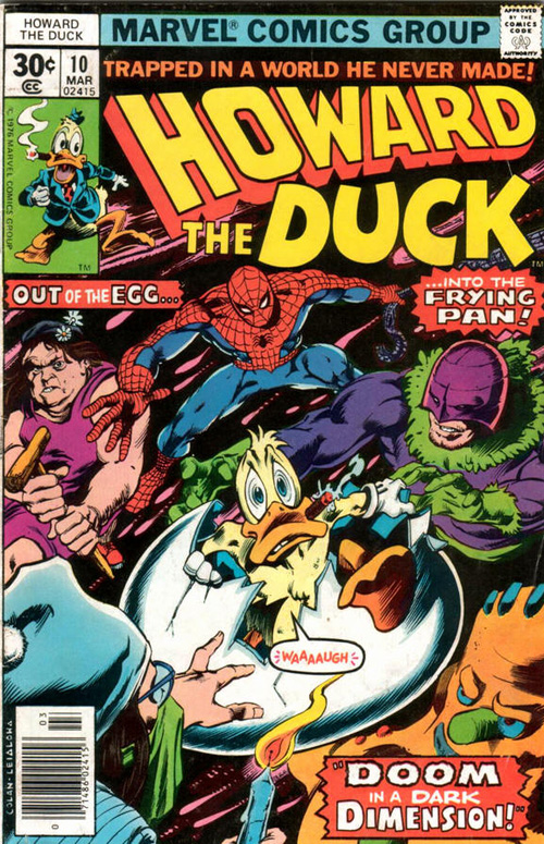 Howard The Duck #10 by Stever Gerber and Gene Colan (Marvel Comics)