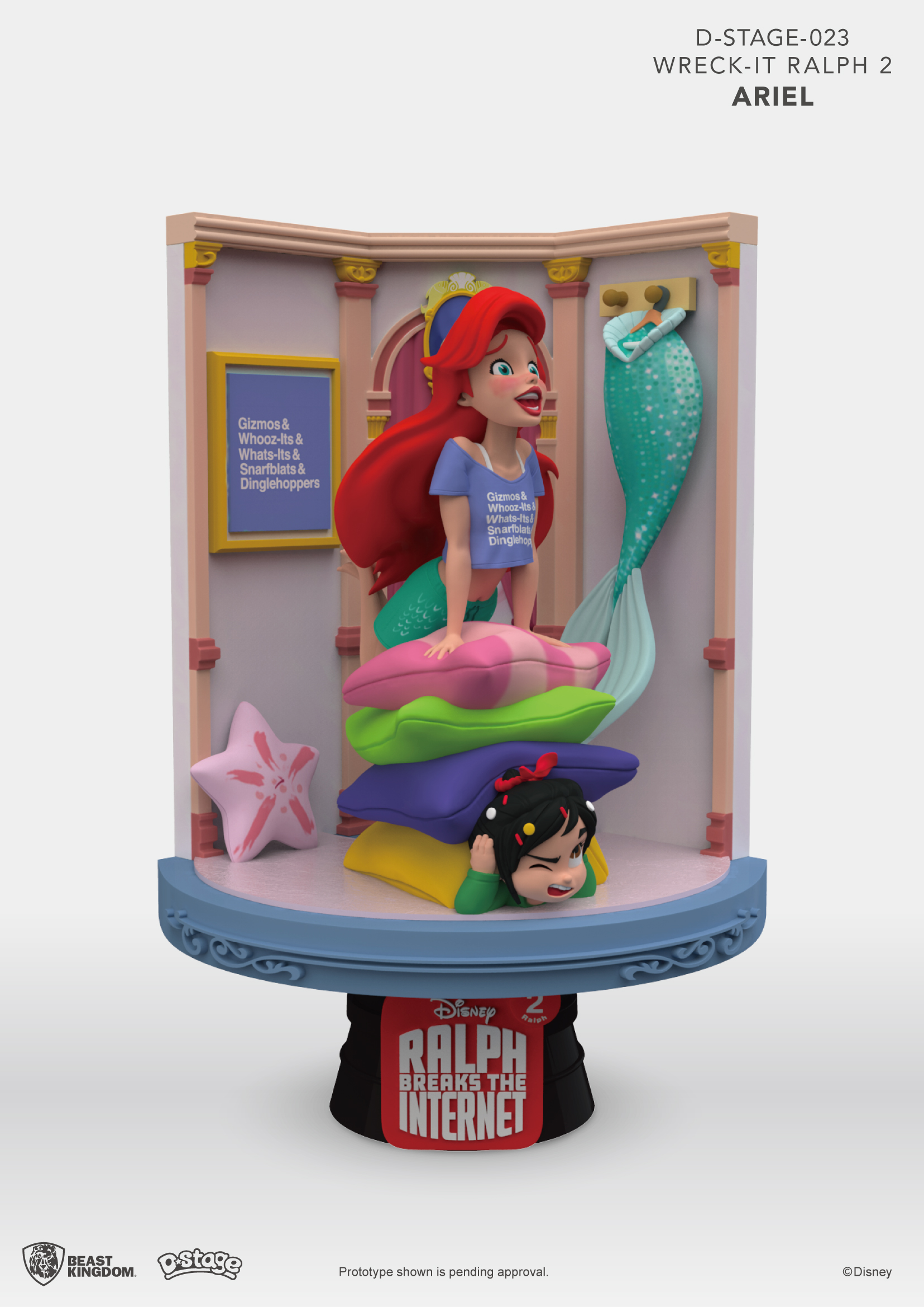 Disney Princesses On Display In Previews Exclusive Ralph Breaks The Internet D Stage Statues Previews World